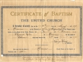 Baptism of Solomon Green, born August 30, 1896, baptized May 18, 1897, Trinity, Newfoundland.