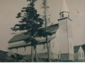 St. Alban's Church, Gooseberry Cove circa 1955, old school behind