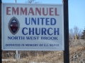 Sign at entrance to United Church  at Northwest Brook. (Photo by Lester Green)