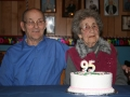Caleb Churchill and his sister Doris Spurrell on her 95 th birthday. (photo by Lester Green)
