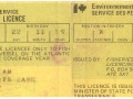 William Green, Little Heart's Ease, 1976 fishing License.