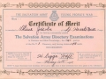 Olive (Jacobs) Green, Little Heart's Ease, 1942 Salvation Army's Certificate of Merit.