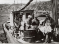 Henry Thomas selling fish to Green's from Winterton. (Photo_Annie Green collection)