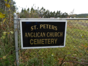 St. Peter's Anglican Cemetery, Little Heart's Ease