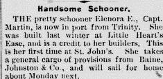 ET 1907 September 20 Schooner Elenora E