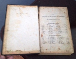 Charlie and Rachael Green St.  Jones Without opened Family Bible. (Donated by Granddaughter Jennifer  Sturge)
