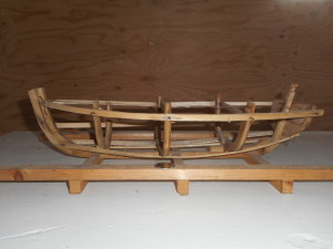 Model or mould used to construct a punt. It was designed by Azariah King and given to Everett Lambert. (Photo by Lester Green)