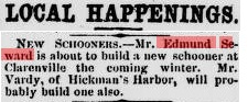 Edmund Seward_New Schooner_Evening Telegram_December 8, 1898