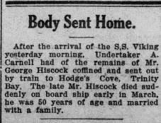 Evening Telegram 30 Apr 1923