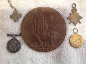 Edgar Smith WW1 medals back