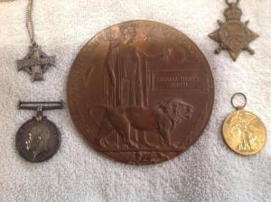 Edgar SmithWW1 Medals front