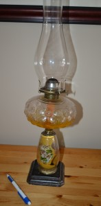 Bedroom lamp owned by Minnie Seward Spurrell Murphy (1884-1968)
