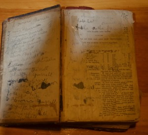 Bible belonging to John and Catherine Spurrell, Butter   Cove 2a