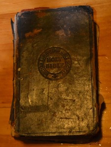 Bible belonging to John and Catherine Spurrell, Butter   Covea