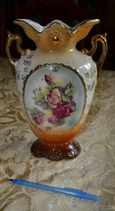 Decorative vase from early 1900's, owned by Minnie Seward Spurrell Murphy (1884-1968)