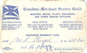 Leander Stringer 1926-1998 Insurance Card
