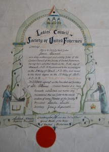 SUF Certificate for Jane Spurrell Seward