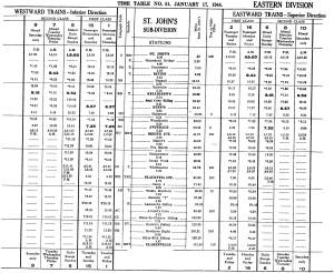 Train Schedule 1944