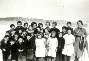 Long Beach school students, c1937