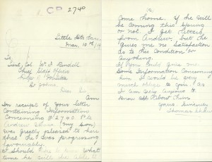 Lettter from William Thomas  (Source Library and Archives, Canada)