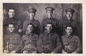 Royal Newfoundland Regiment  soldiers, Southwest Arm region. (Source Fred Shaw and Audrey Drodge)