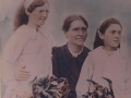 Amelia Stoyles and two daughters. On Left-Rebecca (Becky) married Ken Smith and Elsie Jane married Jack Duffett