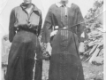 Elsie (Jacobs) Watton and her sister Annie May (Jacobs) Stringer. Annie was also married to Jacob Drodge and Adam Green. (Photo_Olive Green collection)