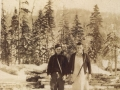 William (Bill) and brother Clarence (Toss) Jacobs in lumberwoods c1940s (courtesy of Lester Green)