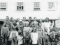 Caplin Cove 1936 with Mr. Stringer in window - wife Maggie teacher
